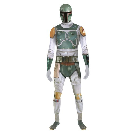 STAR WARS Boba Fett Adult Unisex Zapper Cosplay Costume Digital Morphsuit, Extra Extra Large, Multi-Colour