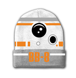 STAR WARS VII The Force Awakens BB-8 Astromech Droid Beanie, One Size, White/Grey