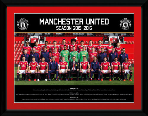 Manchester United Team Photo 15/16 Framed Collector Print