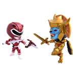 Mighty Morphin Power Rangers Action Vinyl Figures 2-Pack Metallic Goldar vs Red Ranger 8 cm