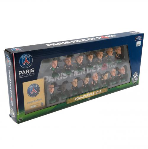 Paris Saint Germain F.C. SoccerStarz Quadruple Winners Team Pack