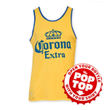 CORONA EXTRA Men's Yellow Pop Top Tank Top