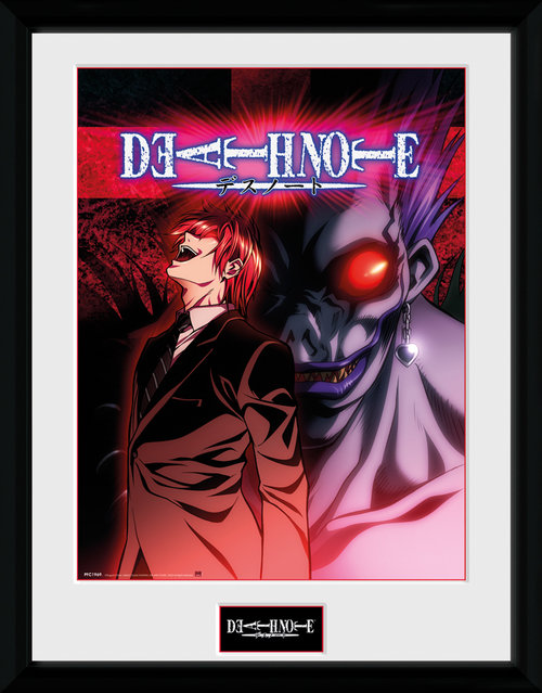 Death Note Light and Ryuk Framed Collector Print