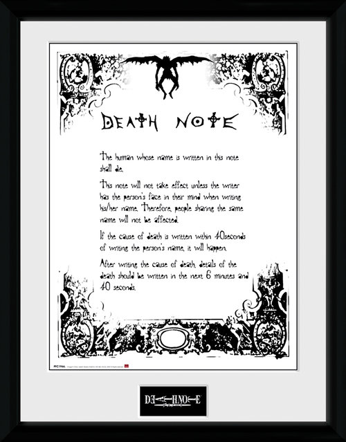 Death Note Death Note Framed Collector Print