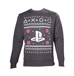 SONY Playstation Men's Logo Christmas Jumper, Small, Grey