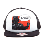 STAR WARS It Is Pointless to Resist Darth Vader Trucker Snapback Baseball Cap, One Size, Multi-Colour
