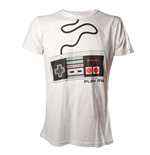 NINTENDO Original Adult Male Classic 'Play Me' NES Controller T-Shirt, Large, White