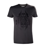 NINTENDO Legend of Zelda Adult Male Black Stencil Emblem T-Shirt, Extra Large, Dark Grey