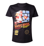 NINTENDO Super Mario Bros. Adult Male Classic NES Games Case T-Shirt, Extra Extra Large, Black