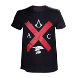 ASSASSIN'S CREED Syndicate Adult Male Rooks Red Cross Edition T-Shirt, Small, Black