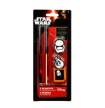 Star Wars Episode VII 2 Pencils with Eraser Top Case (12)