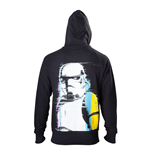 STAR WARS Adult Male Stormtrooper Retro Style Full Length Zipper Hoodie, Medium, Black
