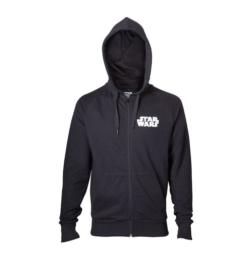 STAR WARS Adult Male Darth Vader 'Dark Side' Full Length Zipper Hoodie, Medium, Black