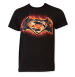 BATMAN vs. Superman Flames Logo Tee Shirt