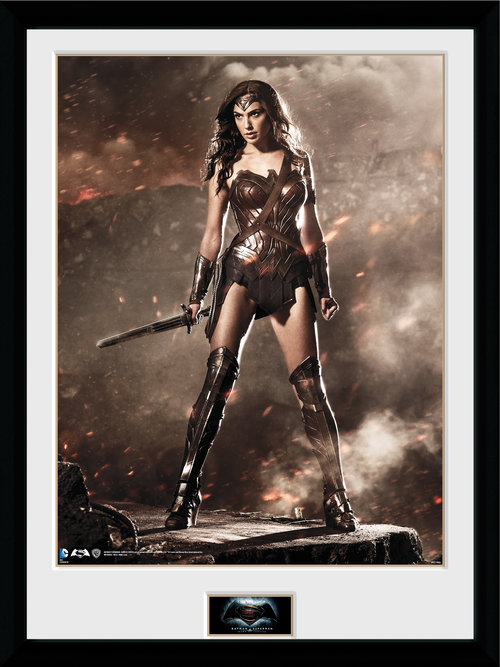 Batman Vs Superman Wonder Woman Framed Collector Print