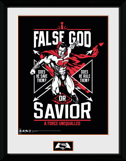 Batman Vs Superman False God Framed Collector Print