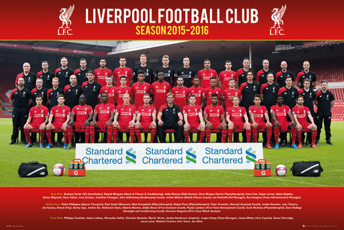 Liverpool Team Photo 15/16 Maxi Poster