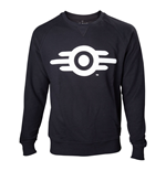 FALLOUT 4 Adult Male Vault Tech Logo Crew Neck Sweater, Medium, Black