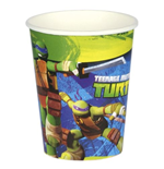 Ninja Turtles Plastic Glasses - 8 pieces