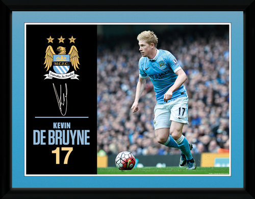 Manchester City De Bruyne 15/16 Framed Collector Print