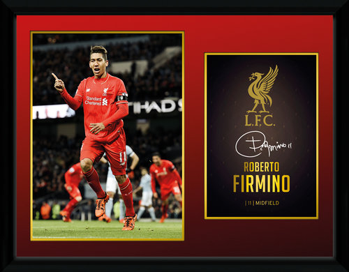 Liverpool Firmino 15/16 Framed Collector Print