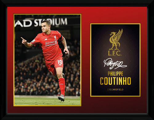 Liverpool Coutinho 15/16 Framed Collector Print