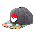 POKEMON Unisex 3D PokeBall & Pokemon Snapback Baseball Cap, One Size, Multi-Colour