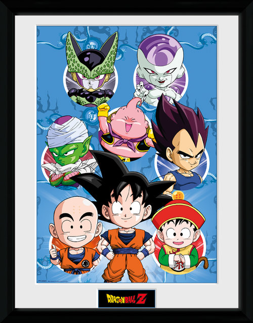 Dragonball Z Chibi Characters Framed Collector Print