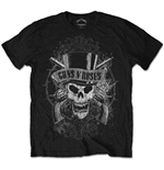 Guns N' Roses Men's Tee: Faded Skull