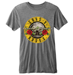 Guns N' Roses Men's Burn-out Tee: Bullet Logo