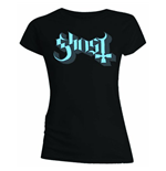 Ghost Women's Skinny Fit Tee: Blue/Grey Keyline Logo