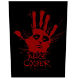 Alice Cooper Back Patch: Splatter Hand