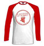 5 Seconds of Summer Women's Raglan/Baseball Tee: Derping Stamp