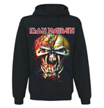 Iron Maiden Men's Hooded Top: Final Frontier Big Head