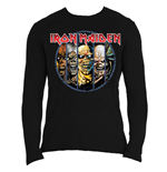 Iron Maiden Men's Long Sleeved Tee: Eddie Evolution
