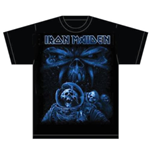 Iron Maiden Men's Tee: Final Frontier Blue Album Spaceman
