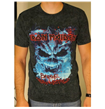 Iron Maiden Men's Puff Print Tee: Brave New World