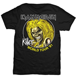 Iron Maiden Men's Tee: Killer World Tour '81