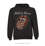 The Rolling Stones Men's Hooded Top: Checker Tongue