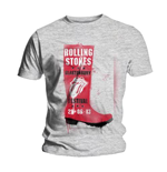 The Rolling Stones Men's Tee: Glastonbury Red Wellie