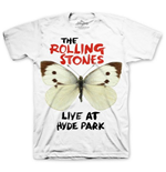 The Rolling Stones Men's Tee: Butterfly Hyde Park