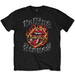 The Rolling Stones Men's Tee: Flaming Tattoo Tongue