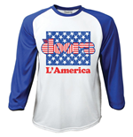 The Doors Men's Raglan/Baseball Tee: L'America