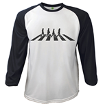 The Beatles Men's Raglan/Baseball Tee: Abbey Road Crossing