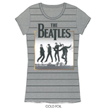 The Beatles Women's Foiled Tee: Leaping
