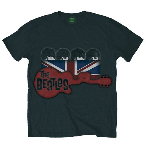 The Beatles Men's Tee: Guitar & Flag