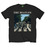 The Beatles Men's Tee: Abbey Road with logo