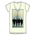 The Beatles Women's Foiled Tee: Eiffel Tower