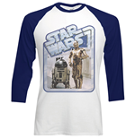 Star Wars Men's Raglan/Baseball Tee: Retro Droids
