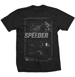 Star Wars Men's Tee: Rey's Speeder Tech